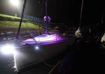 Jacht Antila nocą