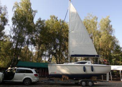 Wodowanie jachtu Antlia 24