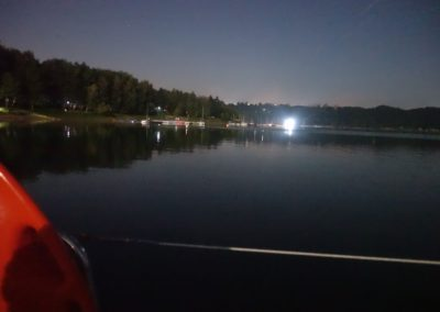 Nocny rejs po jeziorze Solińskim